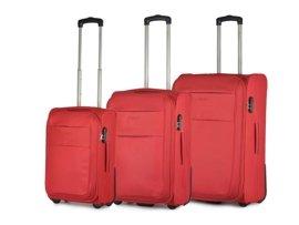 Zestaw trzech walizek PUCCINI EM-50307 ABC czerwony